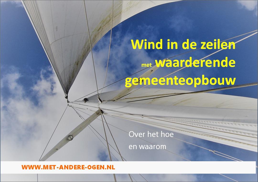 Wind in de zeilen met waarderende gemeenteopbouw Else Roza Els Deenen.